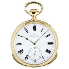 Barraud & Lunds Open Face Pocket Watch Stem Key Wind Yellow Gold