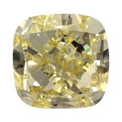 GIA Certified 4 Carat Cushion Yellow Diamond