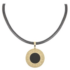 Bvlgari Steel & Yellow Gold Tondo Reversible Onyx Pendant