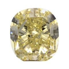 GIA Certified 4.07 Carat Cushion Yellow Diamond