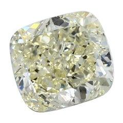 GIA Certified 4.34 Carat Cushion Yellow Diamond