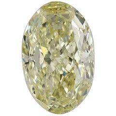 GIA Certified 3.5 Carat Oval Fancy Yellow Diamond