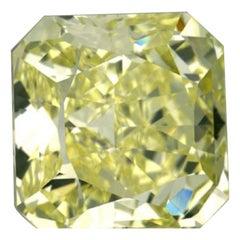 GIA Certified 3.43 Carat Radiant Yellow Diamond