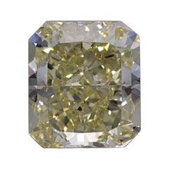 GIA Certified 4.01 Carat Radiant Yellow Diamond