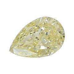 GIA Certified 3.44 Carat Pear Yellow Diamond