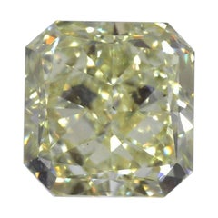 GIA Certified 3.66 Carat Radiant Yellow Diamond
