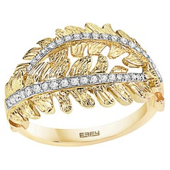 Effy 14 Karat Yellow Gold Diamond Ring