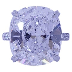 15.58 Carat Cushion D Internally Flawless Type 2A GIA Diamond Engagement Ring