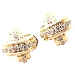 Tiffany & Co. Diamond Signature X Yellow Gold Earrings