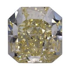 GIA Certified 3.21 Carat Radiant Yellow Diamond