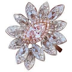 GIA Certified 0.47 Carat Pink Diamond Cocktail Engagement Ring