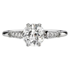 Handcrafted Carmen Old European Cut Diamond Ring by Single Stone