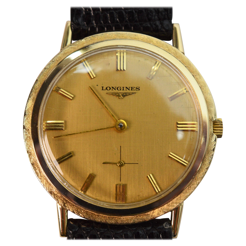 Longines 14K Yellow Gold Mens Wrist Watch