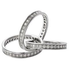 Cartier Diamond Platinum Classic Trinity Band Rolling Ring