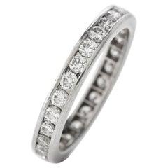 Tiffany & Co. Diamond Platinum Designer Eternity Band Ring