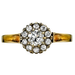 Handcrafted Talia Old Mine Cut Diamond Ring by Single Stone