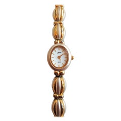 Ladies Belair Stainless Steel Gold Plated Watch, Quartz