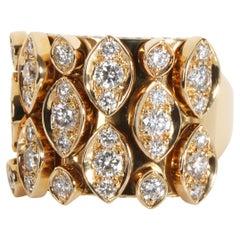 18K Yellow Gold Cartier Diadea Entremblant Ring
