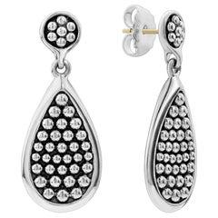 Lagos Sterling Silver Bold Caviar Drop Earring