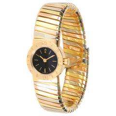 Bulgari Tubogas BB 19 2T Women's Watch in 18kt 3 Tone Gold