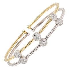 Gold and Diamond Bracelet Set