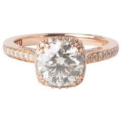 Tacori Rose Gold 1.32ct Round Diamond Halo Engagement Ring