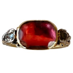 Portuguese Paste and Diamond  Ring  18th Century '1800s' Victorian Time