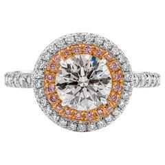 Tiffany & Co. Soleste 1.26 Carat Round Diamond Double Halo Engagement Ring