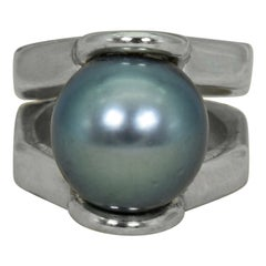 Tahitian Pearl Sterling Silver Cocktail Ring