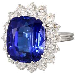 Tiffany & Co. Large Tanzanite Diamond Platinum Ring