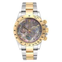 Rolex Daytona 116523 Stainless Steel 18k Yellow Gold Black Mother of Pearl Dial