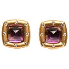 H. Stern Amethyst and Diamond Earrings