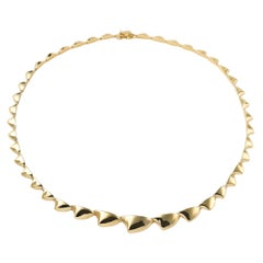 Maria Kotsoni Contemporary, Articulated 18K Yellow Gold Spike Link Necklace