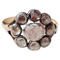 Georgian Diamond Engagement Ring Museum Worthy  18th Century 1700s Portuguese