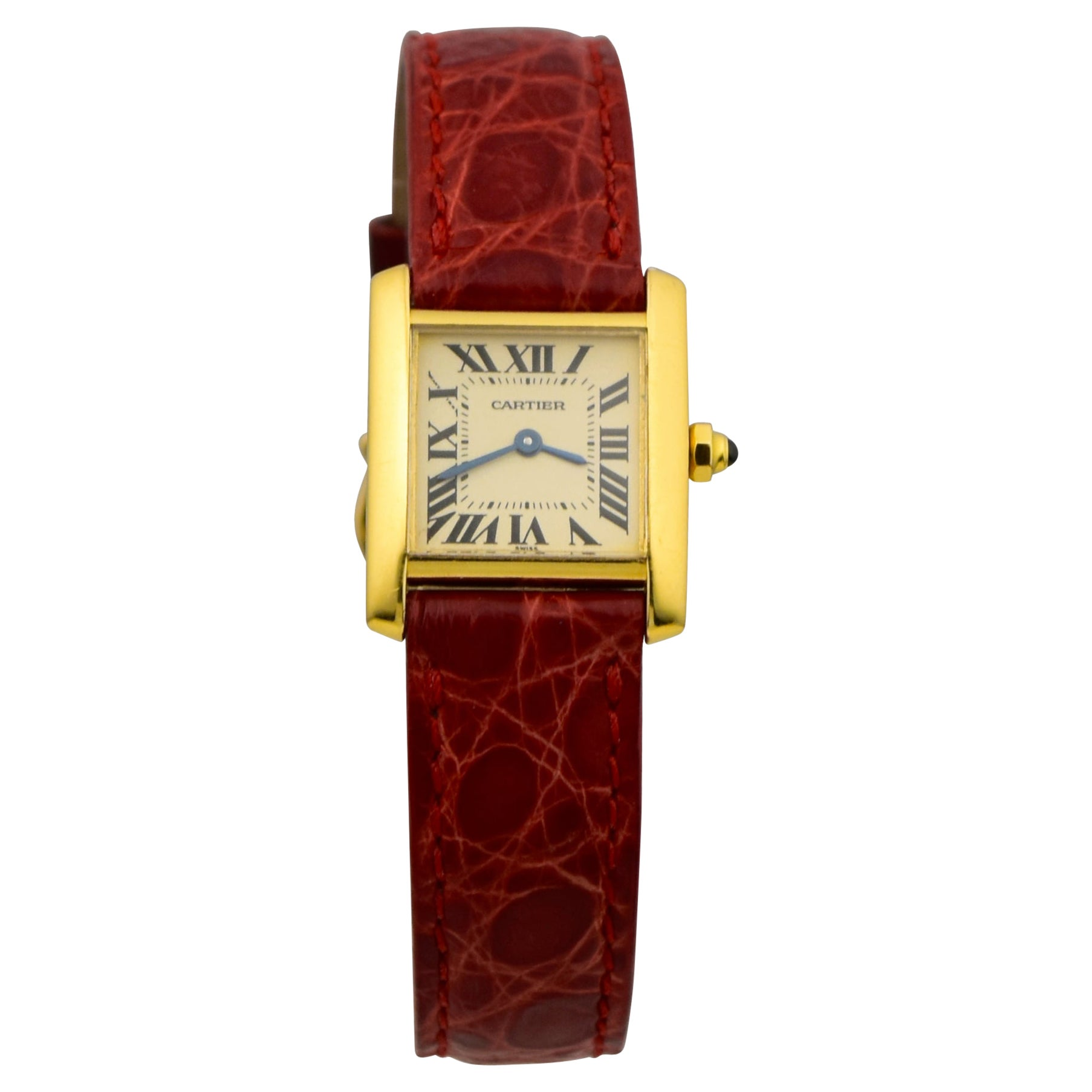 Cartier Tank Montres Francaise in 18k Yellow Gold Watch