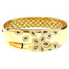 Roberto Coin Fantasia Diamond Daisy Wide Bracelet