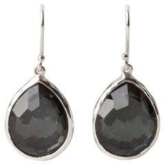 Ippolita Rock Candy Sterling Silver Pear Hematite Drop/Dangle Earrings