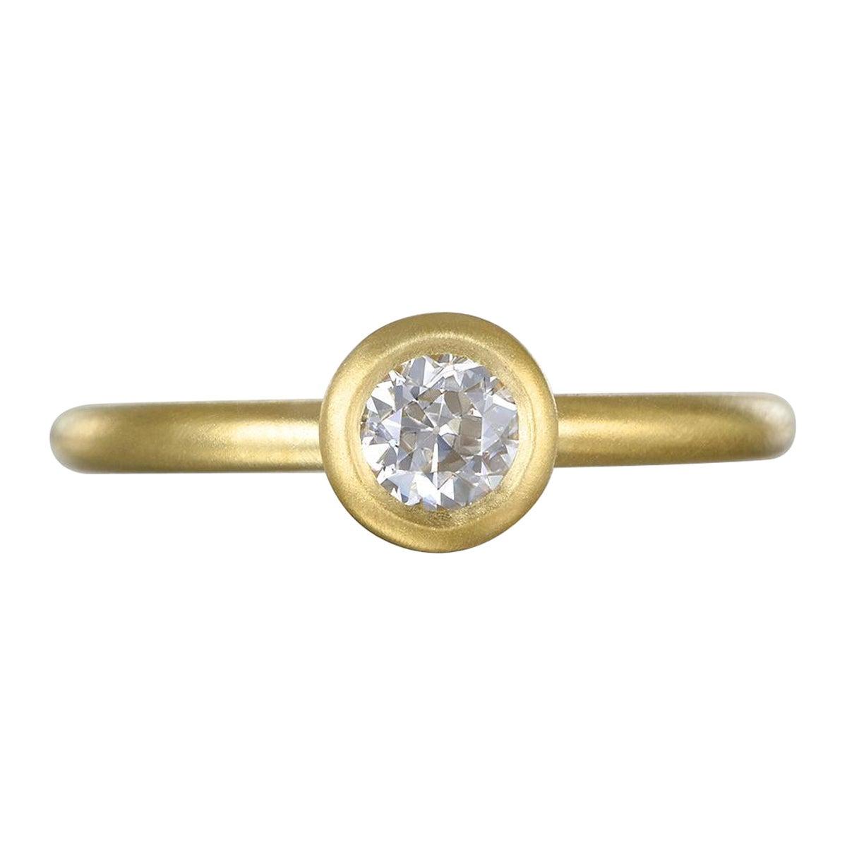 Faye Kim 18k Gold Old European Cut Diamond Ring