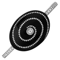 Andreoli Diamond Zirconium 18 Karat Gold Bracelet