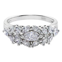 GIA Certified 0.30ct Marquise Shape Diamond Round Brilliant Cut Engagement Ring