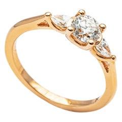18 Carat Rose Gold and Diamond Engagement Ring