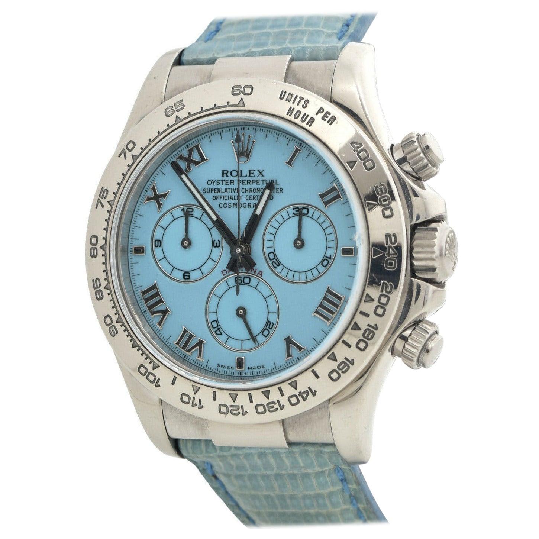 Rolex Daytona Beach Blue Ref. 116519 in 18k White Gold Watch