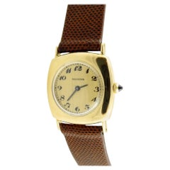Vintage Boucheron 18K Yellow Gold Hand Winding Ladies Watch