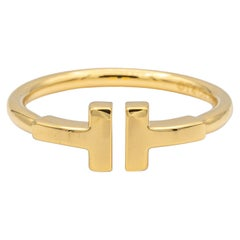 Tiffany & Co. T Wire Ring in 18 Karat Gold Size 6