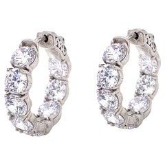 Emilio Jewelry .50 Carat Each Diamond Hoop Earrings