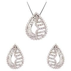 Diamond gold Pendant Set
