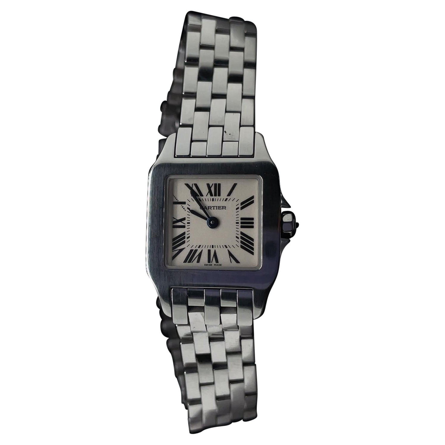 Cartier Santos Demoiselle Stainless Steel Ladies Watch 2698 with Box and Papers