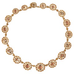 Georgian Gold and Topaz Necklace
