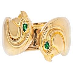 Cartier 18K Yellow Gold Falcon Head Anoubois Ring
