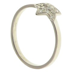 Diamonds 18 Karat White Gold Ring Handcrafted in Italy